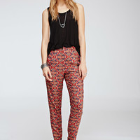 Abstract Tribal Print Trousers