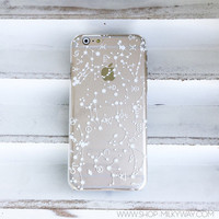 """Clear Plastic Case Cover for iPhone 6 (4.7"""") Henna Constellation"""