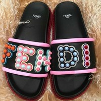 shosouvenir FENDI Leather slides Slipper