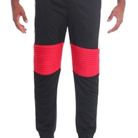 Color Block Biker French Terry Jogger Pants