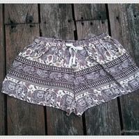 Elephant Shorts Printed Comfy Beach For Summer Art Hippie Hipster Exotic Boho Clothing Aztec Ethnic Bohemian Ikat Boxers Pants Thai Cloth