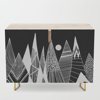 Patterns in the mountains Credenza by vivianagonzlez