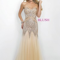 Blush Prom 11103 Magnificent Beaded Mermaid Evening GownPurchase
