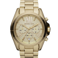 Mid-Size Bradshaw Chronograph Watch, Golden - Michael Kors