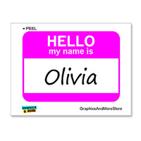 Olivia Hello My Name Is Sticker