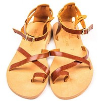 The Troy Sandal in Tan by The Mallard