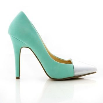 Mirror Cap Pumps | Pointed Pumps at Pink Ice