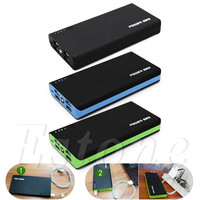 4 USB 5V 2.1A Power Bank Case Kit 6x18650 Battery Charger DIY Box For Cell Phone
