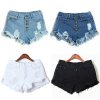 women sexy High Waist Short Jeans