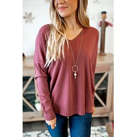 Adored By You Sweater (Rosewood)