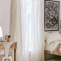 Plum & Bow Gathered Voile Curtain | Urban Outfitters