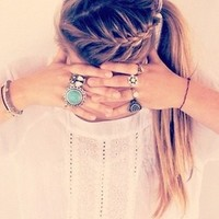 awesome, braid, girl, hair - inspiring picture on Favim.com