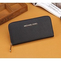MK Michael Kors Women Leather Zipper Wallet Purse-4