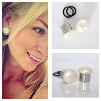 """1/2"""" 9/16"""" 5/8"""" 7/8"""" WHITE Pearl Gauges Plugs 12mm 14mm 16mm 0g 00g"""