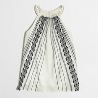 FACTORY EMBROIDERED ROPE-STRAP CAMISOLE