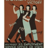 Women Work for Victory Poster Giclee Print at Art.com