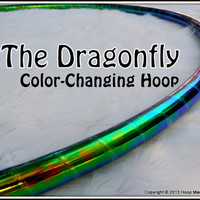 """NEW - ToP SELLER CoLoR-CHaNGiNG 'DRAGONFLY' Hula Hoop // Free Inside Grip Option // Polypro Or 1/2"""" Advanced Tubing."""