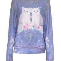WILDFOX  Space Kitten Multi Sweater with print  - What's new