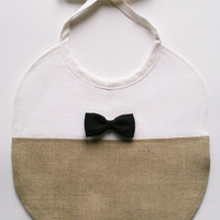 Baby bib tie bow - Soft Couture