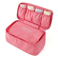 Bra Underwear Lingerie Handbag Organizer Bag Pouch Case For Travel Trip Luggage Waterproof Multifunction Underwear Storage Bag