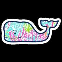 Preppy Lilly Pulitzer whales on sticker paper! :)