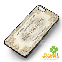 Harry Potter Vintage Ticket London To Hogwarts -end for iPhone 4/4S/5/5S/5C/6/ 6+,samsung S3/S4/S5/S6 Regular/S6 Edge,samsung note 3/4