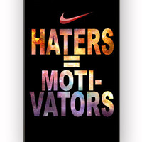 Nike Haters Motivation Custom for iPhone 4/4S Case **