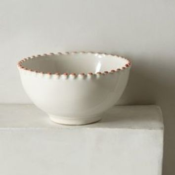 Pearl-Drop Cereal Bowl by Anthropologie in White Size: Bowl Bowls