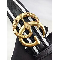 GUCCI stylish men's and women's casual belts are hot sellers with colorful snakeskin buckle belts #3