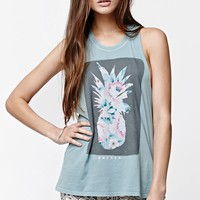 O'Neill Pineapple Muscle Tank Top - Womens Tee - Green