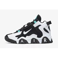 2019 Air Barrage Mid QS White/Black/Blue Sneaker 40-47