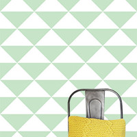 """24"""" x 48""""  Large Triangles  Removable wall paper tile - Wall Paper"""