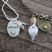 Always Necklace - Antique Bronze OR Silver -  Professor Severus Snape Tears Necklace -  Harry Potter Necklace - Harry Potter gift!