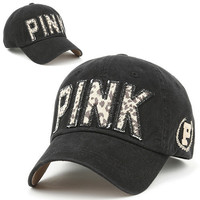 Ball Cap PIJ BLACK Baseball PINK Fashion Hat Casual Jean Trucker Fashion Unisex