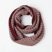 Ideal Mornings Circle Scarf in Burgundy by ModCloth