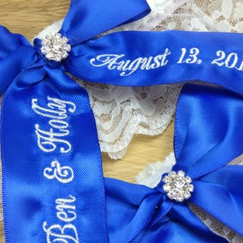 Cobalt Blue Bridal Garter, Something Blue