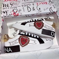 Dolce & Gabbana Fashion Recreational Small White Shoes