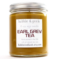 Earl Grey Tea Scented Soy Candle - 8 oz. jar