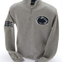 Penn State Nittany Lions Embroidered Quarter Zip Sweatshirt Gray Nittany Lions (PSU)