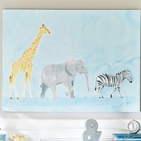 Safari Animals Caitlin McGauley Art | Pottery Barn Kids