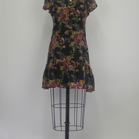 Urban Outfitters Kimchi Blue Floral Black Womens Dress Size XS
