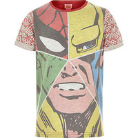 River Island Boys red Marvel face t-shirt