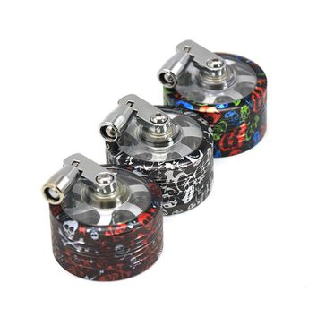 New 2 Layers Dia50MM Weed Spice Herb Grinder Tobacco Smoke Crusher Hand Muller for Shisha Hookah Smoking Pipe Accessories Random