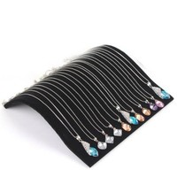 Black Velvet Jewellery Display Board Necklace Chain Pendant Display Necklace Bracelet Jewelry Organizer Stand Holder for Women
