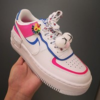 Nike Air Force 1 new women's color block casual shoes