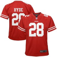 Youth San Francisco 49ers Carlos Hyde Nike Scarlet Game Jersey