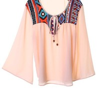 Aztec accent top from Ritzy Gypsy Boutique