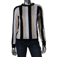 J.W. Anderson Womens Knit Panel Pullover Sweater