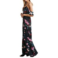 Summer Boho Beach Dress Casual Chiffon Women Maxi Retro Floral Print Evening Long Party Dresses