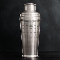 Vintage Hotel Silver Recipe Cocktail Shaker